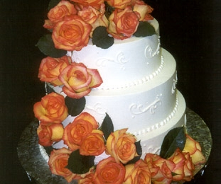 Classic Scroll with Cascading Roses