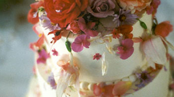 Strewn Flowers on Smooth Tiers (buttercream)
